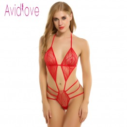 Women Lingerie Bodysuite Underwear Lace Up One Piece Bodysuit Lingerie Plus Size Porn Sexy Costumes