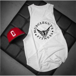 Men's Bodybuilding String Sleeveless Tank Tops Sportwear with Hood Sportwear Tanktops Fitness Men gyms Clothing t-shirts with hoodie