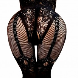Women lingerie Crotchless Fishnet Sheer Body Dress Lingerie Tights Nightwear Lace Women Stocking