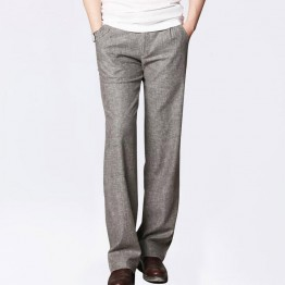 Men's Thin Linen Pants Male Commercial Loose Casual Business Trousers Men's Clothing Straight Fluid Man Pants