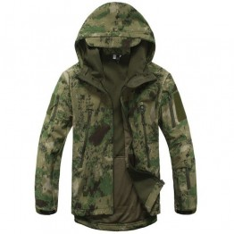 Mens Camo Lurker Shark Skin Soft Shell Military Tactical Jacket Men Waterproof Windproof Warm Coat Camouflage Hooded Camo Army Clothing