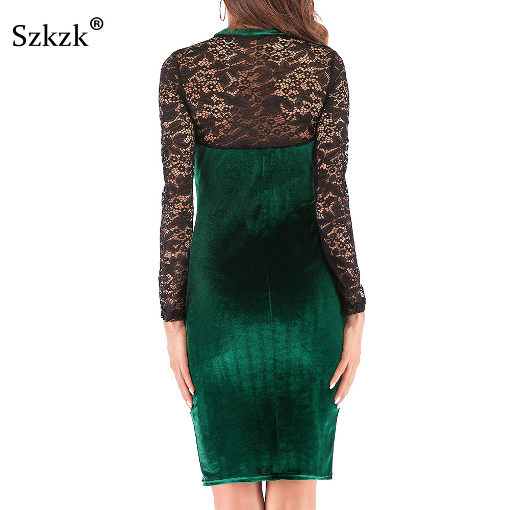 Sexy-Women-Lace-Velvet-Dress-New-2019-Spring-O-Neck-Long-Sleeve-Wine-Red-Black-Green-Bodycon-Midi-Fe-32769739068